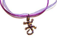 Colgante #Gecko #souvenir Barcelona collar abalorio lizard con