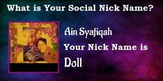 I just find out my Social Nick Name using Facebook Fun App | Find your result Click Here
