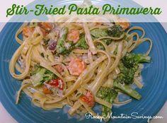 Stir Fried Pasta Primavera #recipes