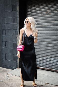 clarins, beauty, double serum, age defense, silk dress, cami dress,