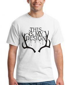 Hannibal this is my design white tshirt for men XXXL -