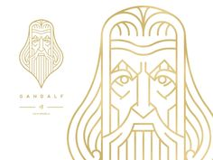Gandalf designed by Josef Kratochvíl. Connect with them on Dribbble; the global community for designers and creative professionals. Wallpaper Background Design, Wallpaper Backgrounds, Wallpapers, Line Illustration, Graphic Design Illustration, Line Art, Type Logo, Spiritus, Creative Logo