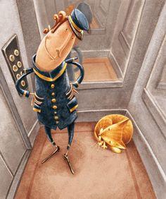 Ben, The Cat - Illustration by Eugenia Nobati.