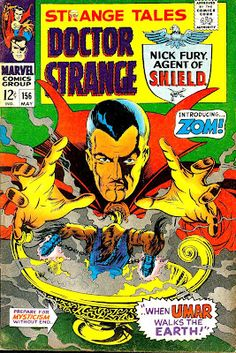 While Strange Tales started off as a horror anthology comic before switching to Jack Kirby drawn science fiction, it became and essential part of your Marvel collection when it became a split book … Ms Marvel, Marvel Comics, Spiderman Marvel, Captain Marvel, Captain America, Dragon Quest, Marvel Comic Books, Comic Books Art, Comic Superheroes