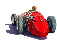 Fangio in the Maserati
