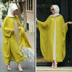 Hijab Fashion Selection of more than 100 looks in trendy and chic Abaya Hijab Fashion 2017 -Abaya modern - Look 04 Hijab Fashion 2017, Abaya Fashion, Fashion Outfits, Muslim Dress, Hijab Dress, Hijab Outfit, Stylish Hijab, Hijab Chic, Islamic Fashion