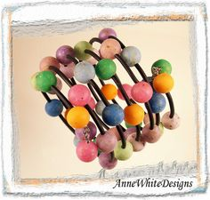 Polymer clay beads by Blue Dog Beads