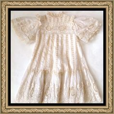 Elaborate Antique Victorian French BEBE Jumeau Fancy Lace Doll Child's Dress   eBay