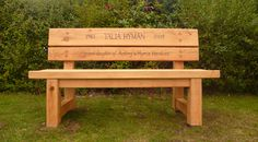 Stapeley Memorial Bench is designed to stand the test of time in any environment with minimal maintenance the bench should give a good 50 years service.