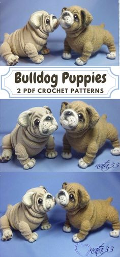 So AMAZING! These bulldog puppies are SOOO REALISTIC LOOKING! I love them! This pattern includes detailed instructions how to crochet these adorable realistic bulldog puppies and how to create the frame for them! Wow! I need this pattern! #etsy #ad #amigurumi #dogs #crochetpattern #pdf #instantdownload