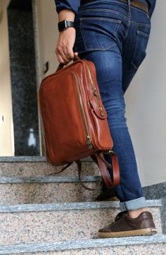 Required fashion backpacks, stylish simple packs, trendy reserve luggage, and stylish ruksacks. Laptop Rucksack, Men's Backpack, Fashion Backpack, Brown Backpacks, Vintage Backpacks, Square Backpacks, Leather Backpacks, Leather School Backpack, College Bags