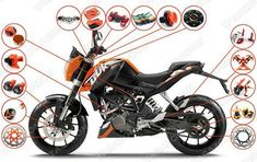 official image of KTM Duke 200 PARTS - Google Search