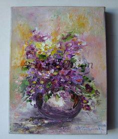 Violets+Original+Oil+Painting+Still+life+Impasto+Purple+Flowers+Bouquet+Impression+Daisy+EU+Artist  http://artistsunion.ecrater.com/p/24483050/violets-original-oil-painting-stillec