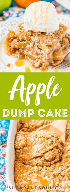 Apple Dump Cake Apple Dump Cake is a recipe that results in a delicious fall dessert somewhere between apple cake and apple crisp!Apple Dump Cake is a recipe that results in a delicious fall dessert somewhere between apple cake and apple crisp! Best Apple Recipes, Apple Dessert Recipes, Dump Cake Recipes, Gourmet Recipes, Fall Deserts Recipes, Apple Baking Recipes, Easy Apple Desserts, Apple Deserts, Baking Desserts