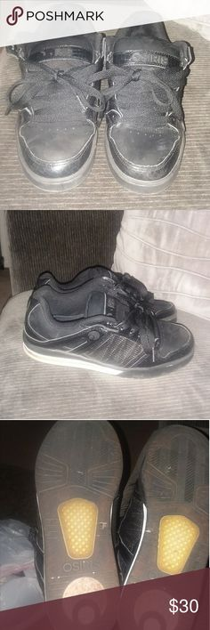 Mens Black Osiris Skate Shoes Black pixel skate shoes  clean and in good condition. Osiris Shoes