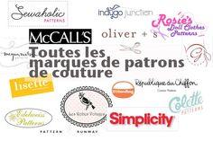 Toutes les marques de patrons de couture | shopping | Blog de Petit Citron