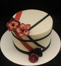 Fun Flowers And Stripes  on Cake Central