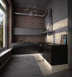 Bildergebnis für schwarze küche