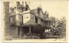 Winchester Psychic Mystery House, San Jose, Calif. Constructed over a 36 year period at a cost of nearly $5,000,000 million dollars. Card  is an AZO (1926-1940) with a Divided Back and Unused, and in Excellent condition. Karodens Vintage Post Cards. www.bonanza.com/booths/karoden