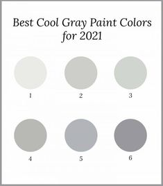 Find out the best neutral cool gray paint colors from all of the major paint companies like Benjamin Moore, Sherwin Williams and Valspar. They're all part of the 2021 paint color trends so you know they're modern and contemporary. | Home Decor Trends