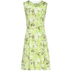 Reiss Fluted Fold Neck Dress, Renaissance Green