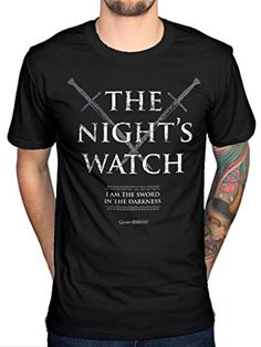 Official Game Of Thrones The Nights Watch T-Shirt GOT Westeros