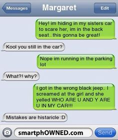 Top 30 Very Funny Texts More texting can come hilarious some times unintentionally, and I think these texts are the best ones, here I have collected some of the funniest and hilarious texts that will make you LOL, make sure to… Very Funny Texts, Funny Texts Jokes, Text Jokes, Funny Texts Crush, Funny Text Fails, Cute Texts, Funny Text Messages, Stupid Funny Memes, Funny Relatable Memes