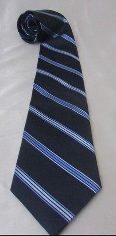"""Nautica Men's Necktie Blue Stripe Navy 58"""" Long x 3.5"""" Wide #Nautica #Tie"""