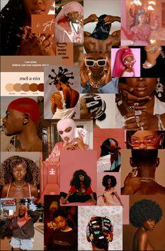 Black Girl Aesthetic, Brown Aesthetic, Aesthetic Collage, Black Girl Art, Black Women Art, Cute Lockscreens, Bad Girl Wallpaper, Black Art Painting, Black Art Pictures