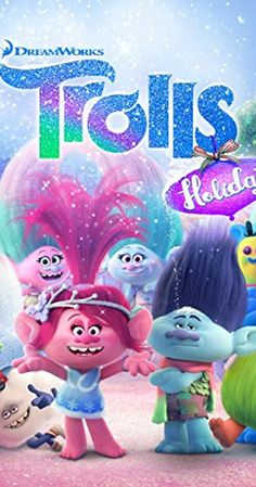 Directed by Joel Crawford.  With Anna Kendrick, Justin Timberlake, Zooey Deschanel, Christopher Mintz-Plasse. When the Queen of the Trolls, Poppy, finds out that the Bergens do not have holidays, she enlists help from her friends, Branch and the Snack Pack, to help her bring holidays to the Bergens. Animated Christmas Movies, Kids Christmas Movies, Kid Movies, Family Movies, 2017 Movies, Dreamworks Animation, Animation Film, Holiday Trailer, Los Trolls