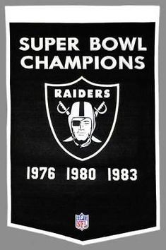 Licensed Oakland Raiders NFL 24 inch x 38 inch Dynasty Banner Flag Raiders Winning Streak KO_19_1