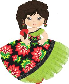 Mexican Birthday Parties, Mexican Party, Mexico Crafts, Fiesta Party Decorations, Mexican Dresses, Topper, Baby Cartoon, Cute Illustration, Face Art