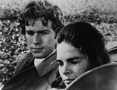 Ryan O'Neal and Ali MacGraw in a scene from the film Love Story, 1971.