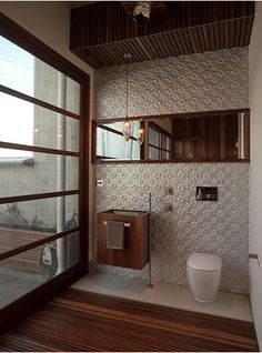 Love the pressed metal wall and the gorgeous light! Residential – Mark Douglass Design & Art. Get the look with similar products from Schots Home Emporium: https://www.schots.com.au/flowers-pressed-metal-9212.html https://www.schots.com.au/bathrooms/toilets/berlin-s-trap-concealed-cistern-toilet-w-seat-gemc1994j2981.html https://www.schots.com.au/lighting/industrial-lighting/workshop-wire-pendant-light-antique-finish-ka221005an.html