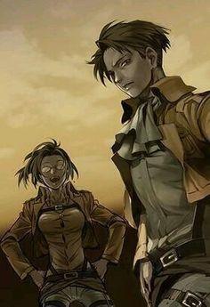 Rivaille (Levi) and Zoe Hanji | Attack on Titan_Shingeki no Kyojin ...
