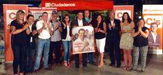 GRANADA. Ciudadanos Granada arranca la campaña en un acto en la Plaza del Campillo junto a la candidatura al Congreso de los Diputados y al Senado arropada por decenas de