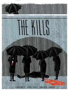 The Kills gig poster by Pat Hamou