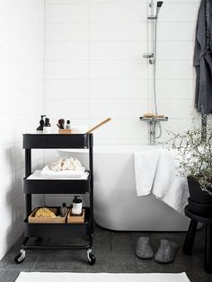 8 Clever Ways To Use IKEA Raskog Cart For Narrow Space | Home Design And Interior
