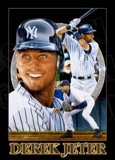 SHANNON painted this piece featuring the New York Yankees' one and only Derek Jeter. A big Hit with Yankees fans.