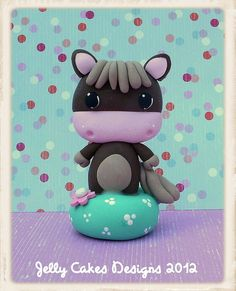 baby pony topper by  Jelly Cakes Designs