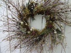 Willow Wreath, Twig Wreath, Boxwood Wreath, Green Wreath, Indoor Wreath, Willow Branches, Shabby Chic Farmhouse, Wedding Wreaths, Rustic Doors