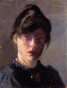 Marie Triepcke Krøyer - Self-Portrait -1889