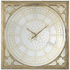 Add a pop of shimmer to your home office or kitchen with this eye-catching wall clock, featuring an Old World-inspired design and gold-hued accents....