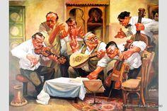 Arabian Decor, Arabian Art, Piano Y Violin, Fat Art, Old Egypt, Z Arts, The Old Days, Egyptian Art, Caricature