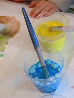 M&M; paint! Yum! - Re-pinned by @PediaStaff – Please Visit http://ht.ly/63sNt for all our pediatric therapy pins