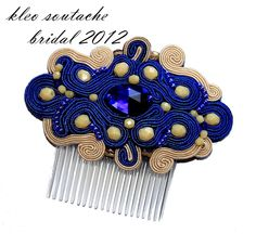 Sutasz Kleo /Soutache jewellery- hair comb
