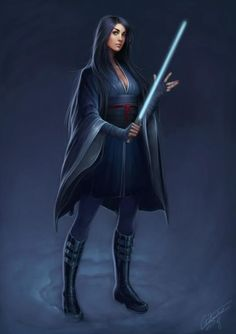 Girl Jedi Knight /by ?? #StarWars #art