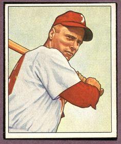 Richie Ashburn 1950 Bowman Philadelphia Phillies Baseball Card