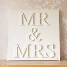 """"""" Easy DIY project w/ wooden letters (or puffy stickers?), paint, and a canvas. Ummmm something to put on the plain canvas on your wall, perhaps? Canvas Letters, Painted Letters, Wood Letters, White Letters, The Wedding Date, Our Wedding, Wedding Gifts, Wedding Ideas, Perfect Wedding"""