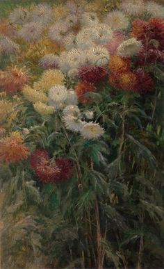 Gustave Caillebotte (French, 1848–1894) - Chrysanthemums in the Garden at Petit-Gennevilliers, 1893 - Oil on canvas - The Metropolitan Museum of Art, New York